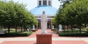 All Saints Catholic School courtyard