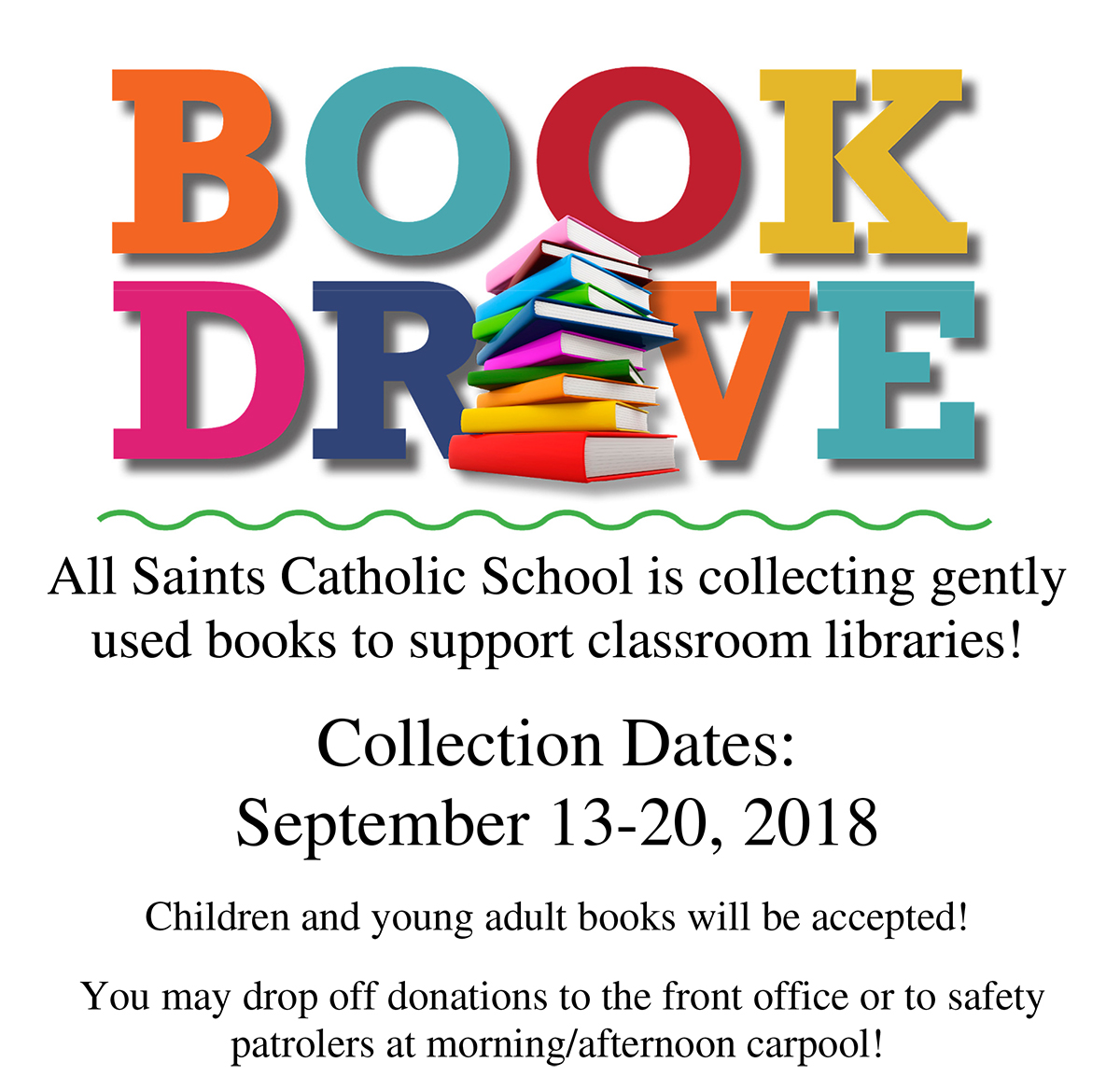 Gently Used Book Drive