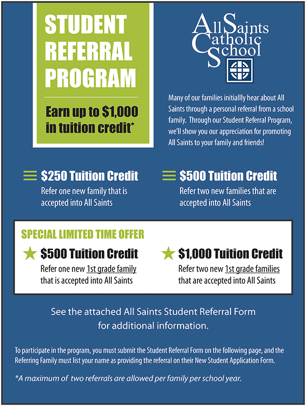 New Student Referral Program offers tuition credit